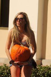 Ana Braga and Her Thanksgiving Pumpkin - Albertsons Supermarket in Calabasas 11/20/2017