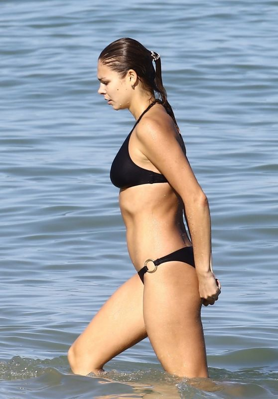 Ana Galkova in Bikini - Beach in Miami 11/19/2017