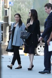 Angelina Jolie - Exiting the LA Times Building 11/10/2017