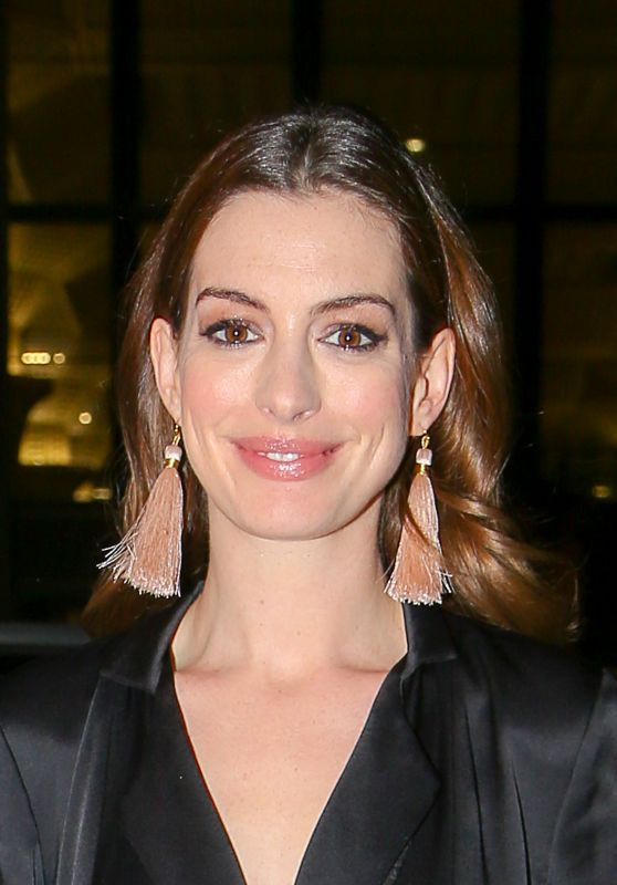 Anne Hathaway at Cipriani in New York City 11/15/2017