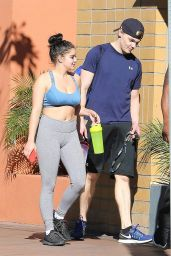 Ariel Winter in Gym Ready Outfit With Levi Meaden Out in LA 11/25/2017