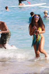 Ashanti in Bikini on a Beach in Hawaii 11/21/2017