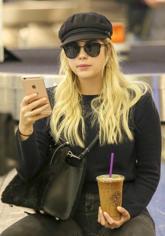 Ashley Benson at LAX Airport in LA 11/22/2017