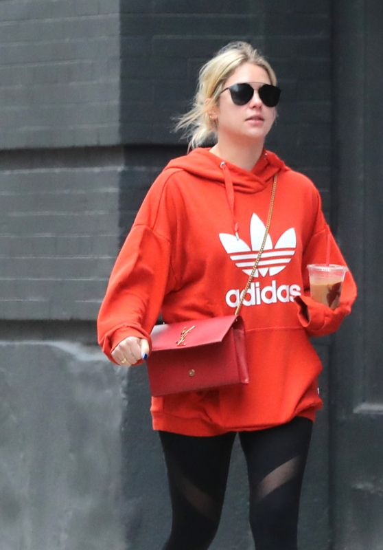 Ashley Benson With Her Personal Trainer - NYC 11/08/2017
