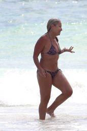 Ashley Hart in Bikini - Beach in Cancun 11/16/2017
