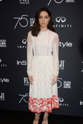 Aubrey Plaza – HFPA and InStyle Celebrate Golden Globe Season in Los Angeles 11/15/2017