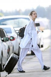 Bella Hadid and Hailey Baldwin - Arriving into Miami on a Private Plane 11/24/2017