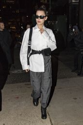 Bella Hadid Night Out Style - NYC 11/08/2017