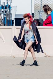 "Bella Thorne - ""Famous in Love"" Set in Malibu 11/13/2017"