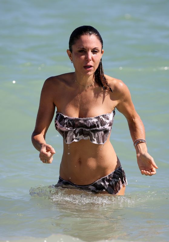Bethenny Frankel in a Floral Bikini - Miami Beach 11/05/2017