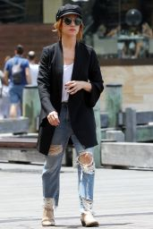 Brittany Snow in Ripped Jeans - Out in Sydney, Australia