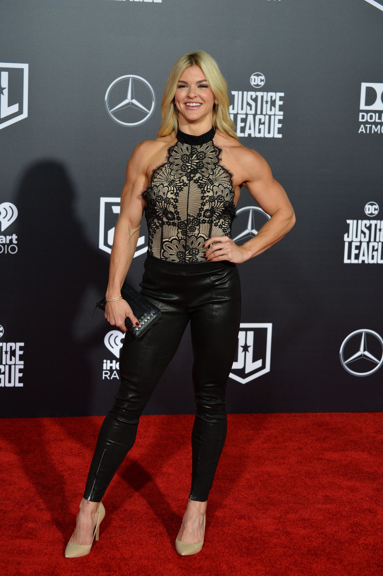 Brooke Ence Justice League Red Carpet In Los Angeles