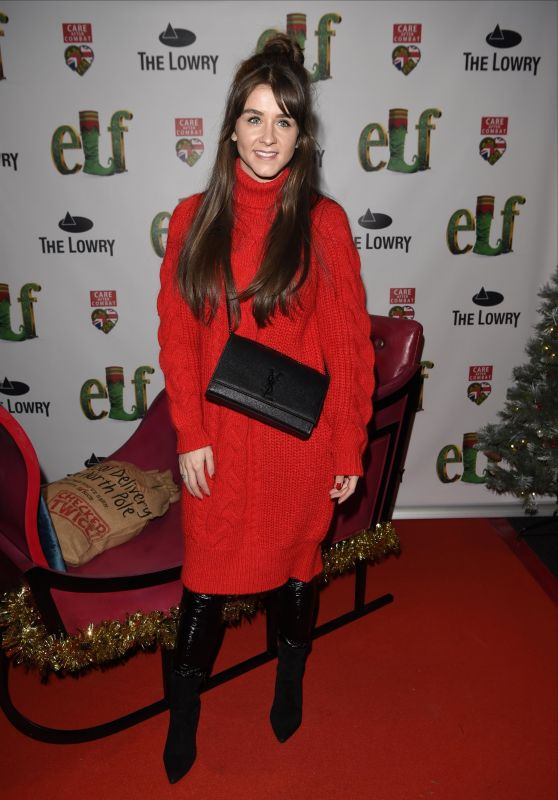 Brooke Vincent - Elf The Musical Press Night and Gala Performance in Manchester