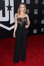"Caity Lotz – ""Justice League"" Red Carpet in Los Angeles"