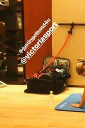 Candice Swanepoel Workout, November 217