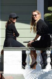 Caroline Wozniacki with Eva Longoria in New Orleans 11/16/2017