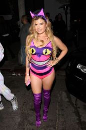 Chanel West Coast - Arrives at Halloween Party at Poppy Club in West Hollywood 10/31/2017