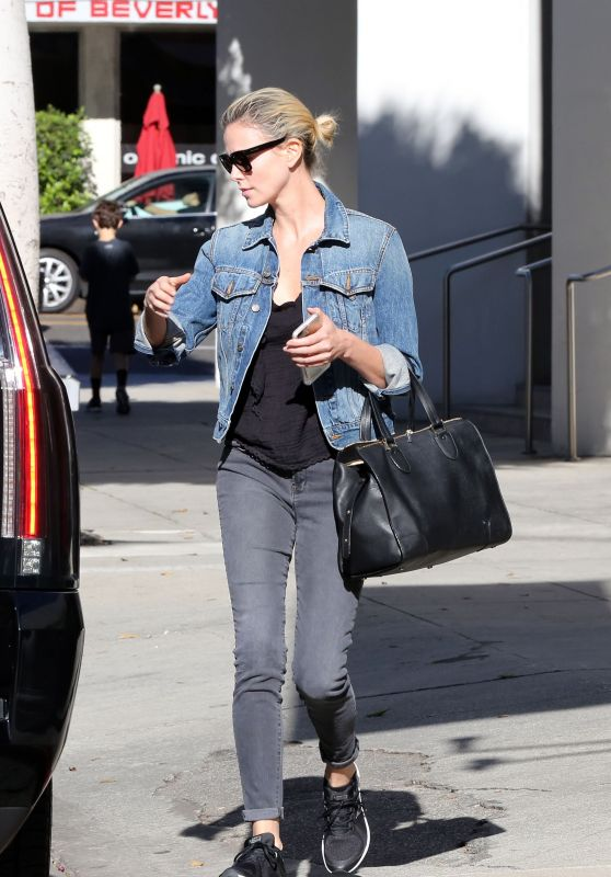 Charlize Theron Street Style - Beverly Hills 11/22/2017