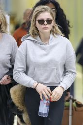 Chloe Moretz in Travel Outfit at LAX Airport in Los Angeles