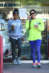 Christina Milian at a Gas Station in LA 11/07/2017
