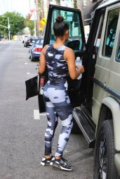 Christina Milian in a Camo Bodysuit - Out in Los Angeles 11/15/2017