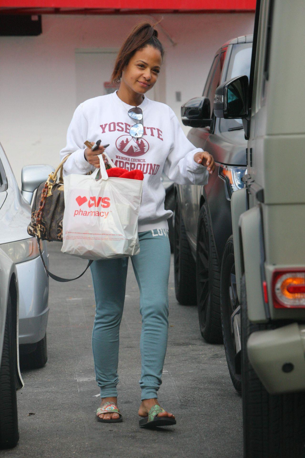 Christina Milian Street Style - CVS Store in LA 11/27/2017