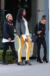 Christina Milian Urban Street Style - Out in Los Angeles 11/19/2017