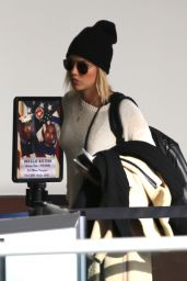 Claire Holt - LAX Airport in Los Angeles 11/29/2017
