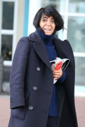 Claudia Winkleman - Leaving Her Blackpool Hotel 11/18/2017