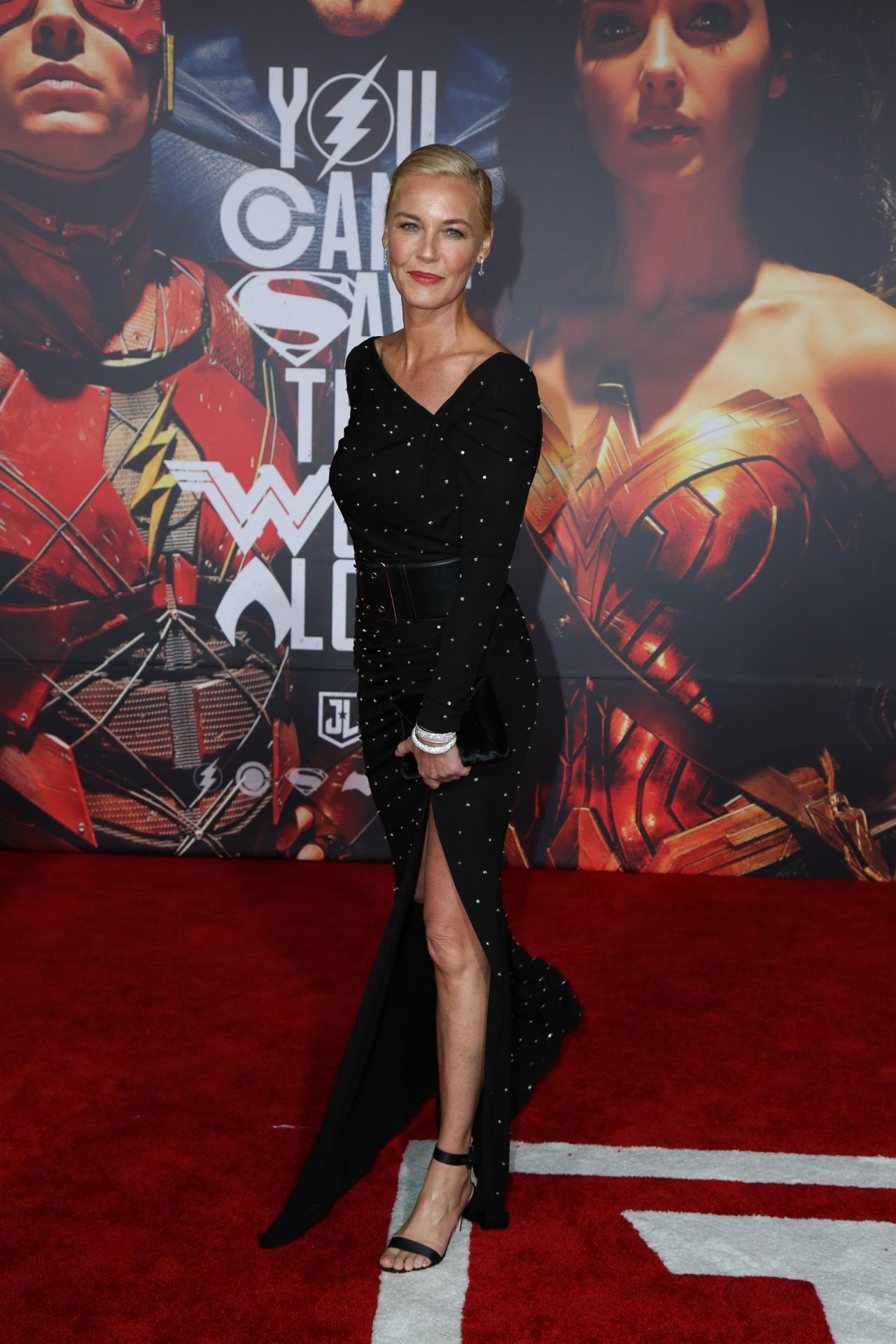"""Connie Nielsen – """"Justice League"""" Red Carpet in Los Angeles"""