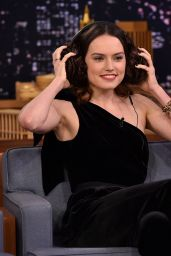 Daisy Ridley Appeared on The Tonight Show Starring Jimmy Fallon in NYC