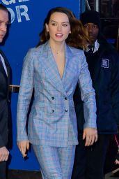 Daisy Ridley Arriving to Appear on Good Morning America in New York