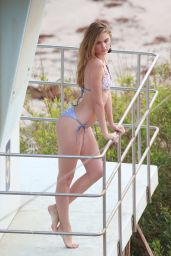 Danielle Knudson in Bikini - Beach Photoshoot in Malibu 11/01/2017