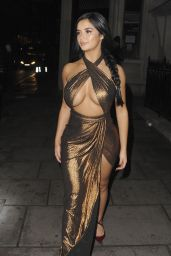 Demi Rose Night Out Style - Leaving House of CB Christmas Dinner Bash in London 11/21/2017