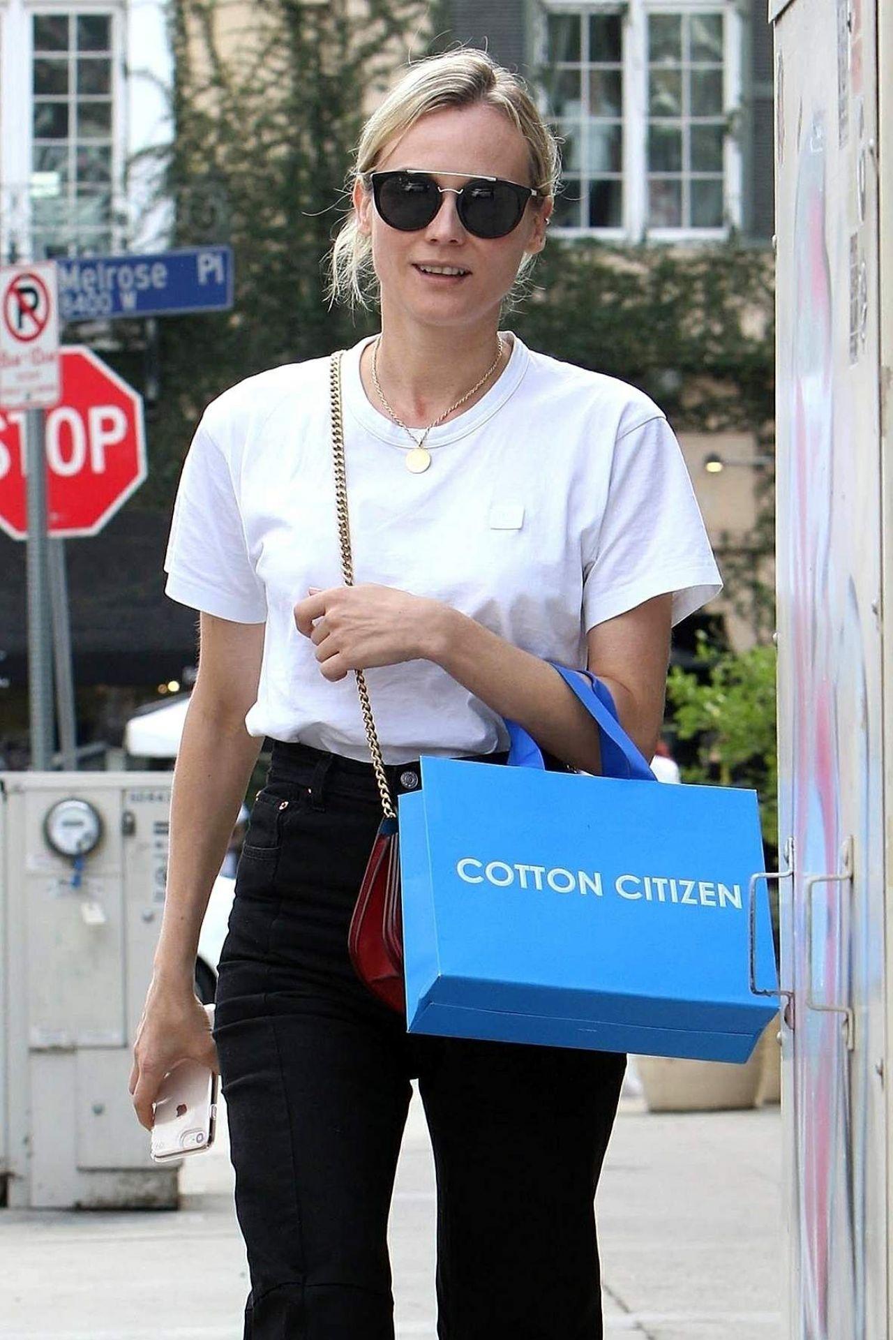 Diane Kruger - Shops at Cotton Citizen on Melrose Place in LA 11/01/2017