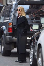 Dianna Agron in a Long Coat - NoHo in New York 11/14/2017