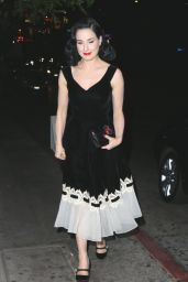 Dita Von Teese - Leaving Chateau Marmont in LA 11/16/2017