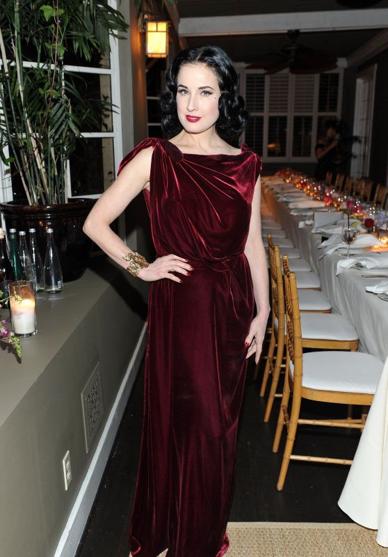 Dita Von Teese - Roland Mouret's The Dinner of Love in LA 11/06/2017