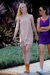 Elle Fanning Cute Style - Los Angeles 11/09/2017