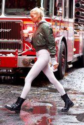 Elsa Hosk in Tights - NYC 11/15/2017