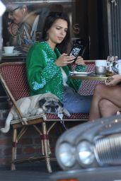 Emily Ratajkowski at Figaro Bistrot in Los Feliz 11/28/2017