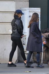 Emma Watson in Fall Outfit - Paris 11/23/2017