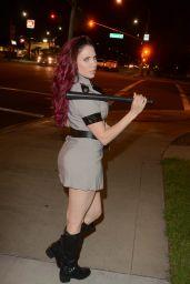 Erika Jordan - Leaving a Pre-Halloween Party in Los Angeles 10/29/2017