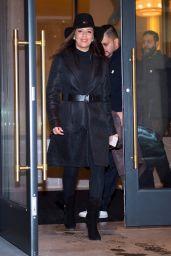 Eva Longoria Fall Style - Midtown South in NYC 11/22/2017