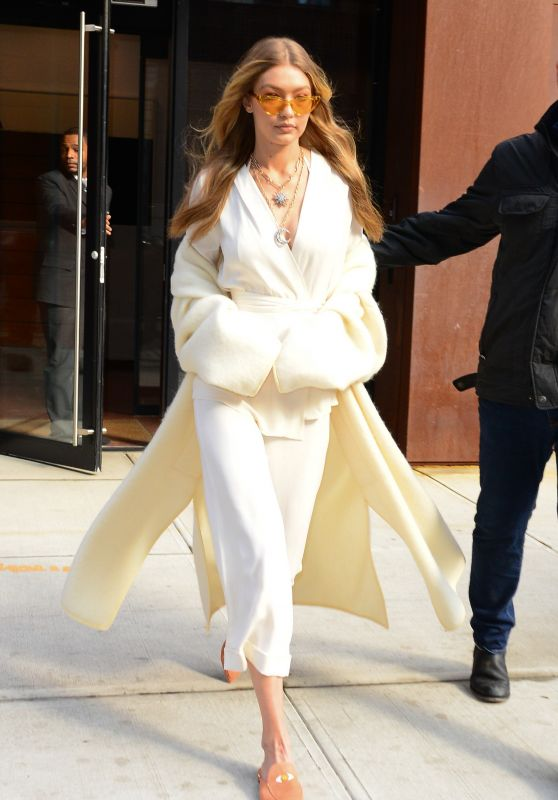 Gigi Hadid Style - Wearing White in NYC 11/15/2017
