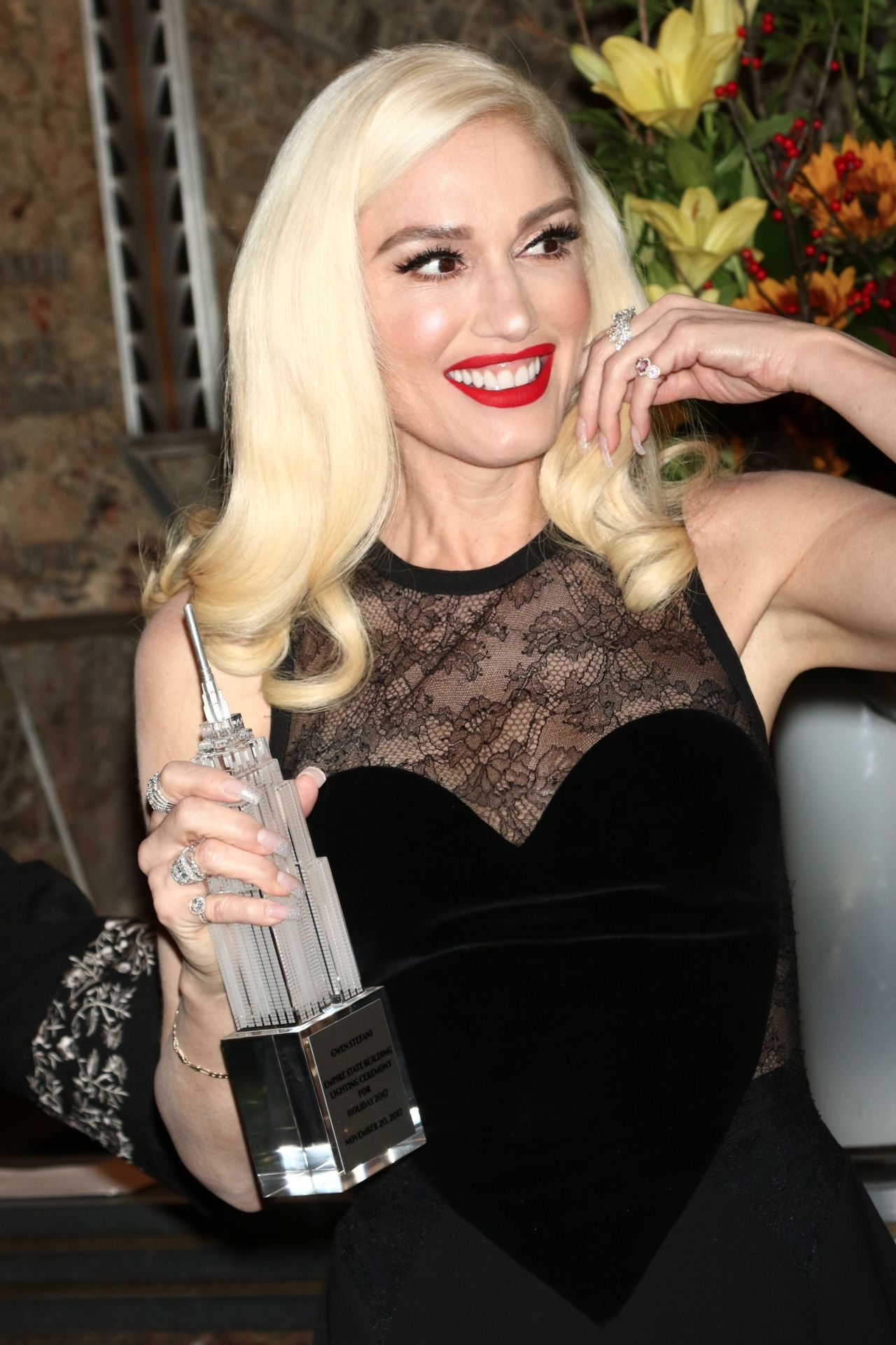 Gwen Stefani Empire State Building Lighting Ceremony In