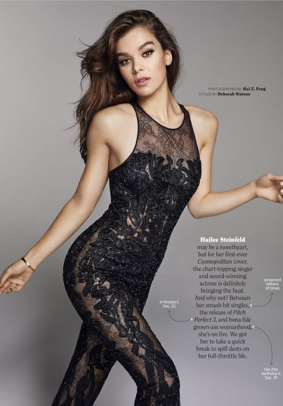 Hailee Steinfeld - Cosmopolitan Magazine December 2017 Issue