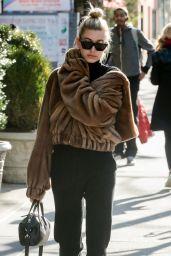 Hailey Baldwin Chic Street Style - NYC 11/21/2017
