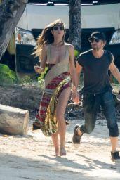 Heidi Klum in Bikini - Beach in Dominican Republic 11/07/2017
