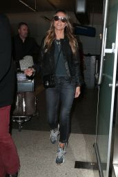 Heidi Klum in Travel Outfit - LAX Airport in Los Angeles 11/11/2017